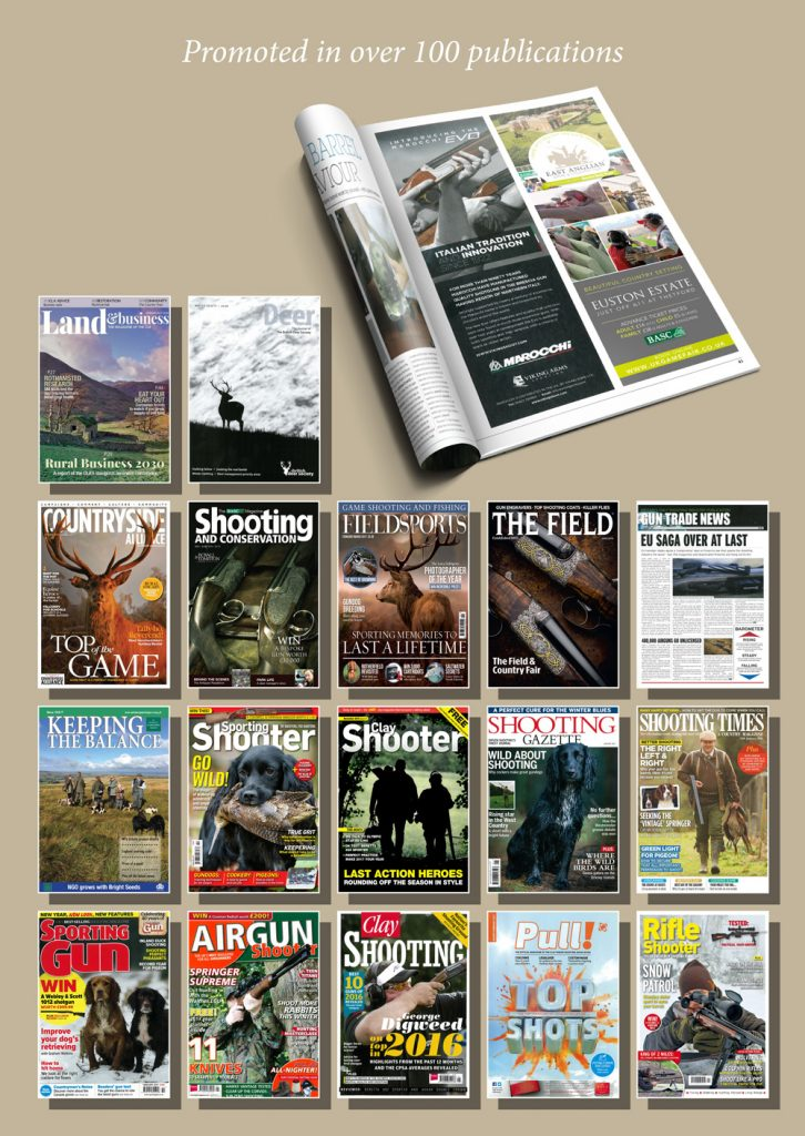 magazines east anglian game and country fair are featured in