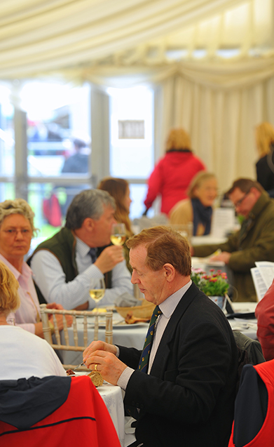 Members dining in the restaurant